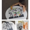 Placemats with a modern twist for little artists