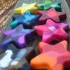 Handmade star crayons