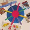 Monday crafts: pegs and cardboard storage wheel