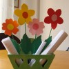 Monday crafts: paper flowers & letter holder