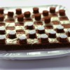 Draughts shaped chocolate cake