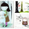 Etsy find: beautiful children art, a mix of print and original artwork