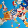 Monday Crafts: A Map of Europe with Recycled Packaging Boxes