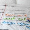 Doodle duvet: draw, wash and draw again