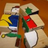 Monday crafts: Christmas puzzle blocks