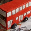 Monday crafts: how to make a double-decker bus out of shoeboxes