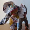 E is for elephant: how to make an elephant out of magazine pages
