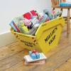 Toy skips make funky storage