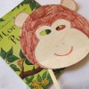 Monday Crafts: monkey mask made with recycled packaging