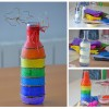 Rainbow decorated bottle