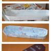 Decoupage cardboard tray