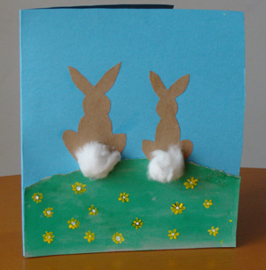 Fab mums monday crafts easter bunny card yesterday we made our first easter card i got the inspiration from allaboutyou which is a great source for simple kids crafts m4hsunfo Image collections