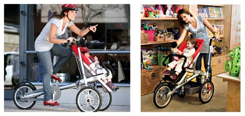 Fab Mums » Taga: from child carrier bike to luxury baby stroller ...