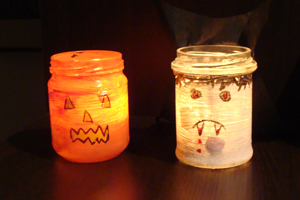 Craft Ideas Glass Jars on This Week I Bring You A Craft For Halloween Which Is Entirely My Son S