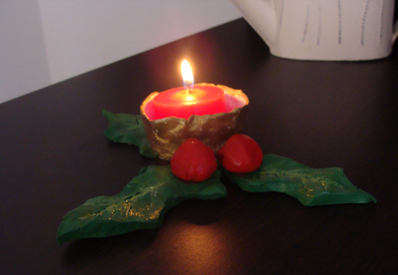 Fab mums christmas crafts how to make a candle holder for How to make christmas candle holders