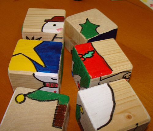 Fab mums monday crafts christmas puzzle blocks for Wood crafts to make for christmas
