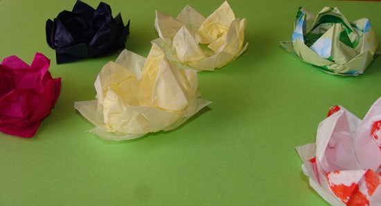 Fab mums monday crafts lotus flower origami happily mightylinksfo