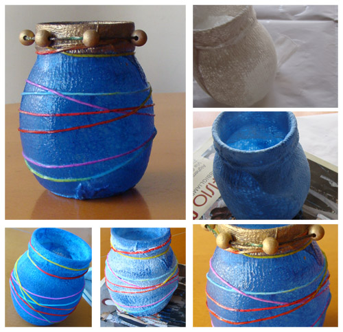Fab mums upcycle crafts how to make a pretty vase with for Crafts to make with glass jars